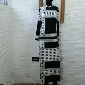 Vtg 60's Mr. Dino Mod Maxi Dress
